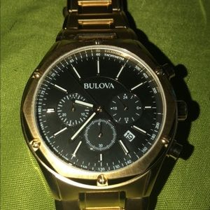 Bulova men gold watch